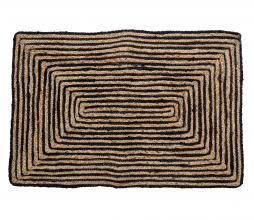 Afbeelding van product: Selected by Bill deurmat 90x60 cm jute zwart/naturel