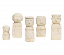 Afbeelding van product: WOOOD Exclusive Kees poppen set van 5 cement naturel