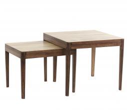 Afbeelding van product: Selected by Stijn set v. 2 bijzettafels hout laag - 36x38x46+42x50x50 cm