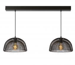 Afbeelding van product: Selected by Mesh dubbele hanglamp metaal zwart