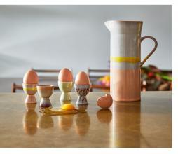Afbeelding van product: HKLiving 70's eierdoppen set van 4 keramiek multi