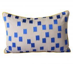 Afbeelding van product: HKliving Doris Brush kussen 25x40 cm blauw/aardetinten