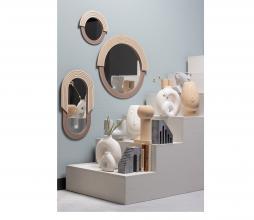 Afbeelding van product: WOOOD Hailey spiegel div. afmetingen naturel hout rond 29 cm