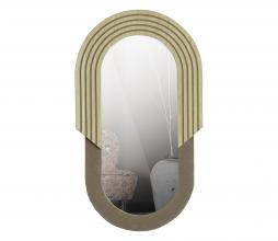 Afbeelding van product: WOOOD Hailey spiegel div. afmetingen naturel hout ovaal 58 cm