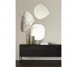 Afbeelding van product: WOOOD Philou spiegel div. afmetingen metaal zwart 60x59 cm