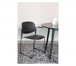 Afbeelding van product: Selected by Stacks eetkamerstoel met armleuning zwart