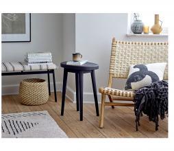 Afbeelding van product: Selected by Ebell kussen 40x40 cm katoen zwart/wit