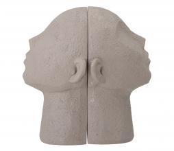 Afbeelding van product: Selected by Baldur boekensteun set van 2 polyresin grijs