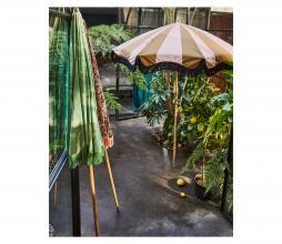Afbeelding van product: HKLiving Classic parasol Ø200 cm nude/mosterd