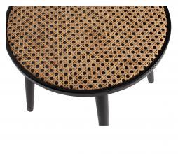 Afbeelding van product: WOOOD Ditmer bijzettafel ø39 cm hout zwart/naturel