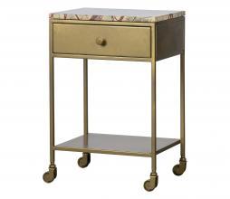 Afbeelding van product: BePureHome Clinic nachtkastje marmer/metaal antique brass