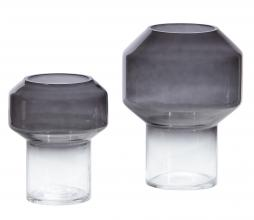 Afbeelding van product: WOOOD Jaxx vaas glas zwart div. afmetingen Ø15 cm