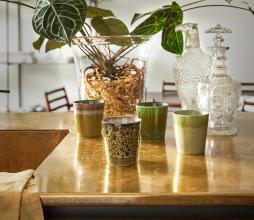 Afbeelding van product: HKLiving 70's koffie mok keramiek H8 ø7,5 peat