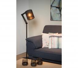 Afbeelding van product: Selected by Tampa vloerlamp linnen/metaal zwart zwart