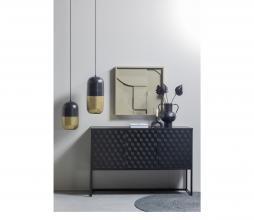 Afbeelding van product: WOOOD Milo 3-deurs tv meubel hout/metaal zwart