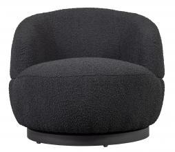 Afbeelding van product: BePureHome Woolly draaifauteuil bouclé antraciet