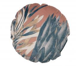 Afbeelding van product: BePureHome Bouquet kussen printed velvet Ø45cm melon