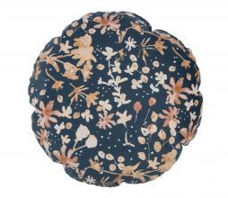 Afbeelding van product: BePureHome Bouquet kussen printed velvet Ø45cm milk