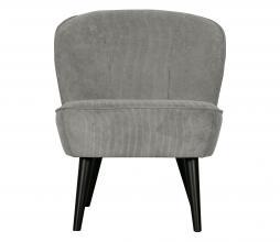 Afbeelding van product: WOOOD Sara fauteuil ribstof vergrijsd groen