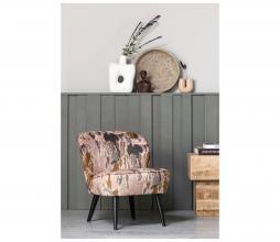 Afbeelding van product: Basiclabel Sara fauteuil tie dye print aardetinten