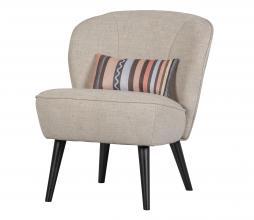 Afbeelding van product: Basiclabel Lonneke fauteuil met key piece kussen naturel