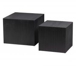 Afbeelding van product: WOOOD Sanne bijzettafels set v. 2 vierkant zwart