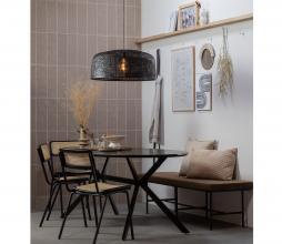 Afbeelding van product: WOOOD Exclusive Bruno eettafel ovaal matzwart