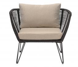 Afbeelding van product: Selected by Mundo loungestoel (binnen-buiten) metaal zwart