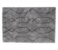 WOOOD Nové vloerkleed div. afmetingen lichtgrijs/zwart 170x240 cm