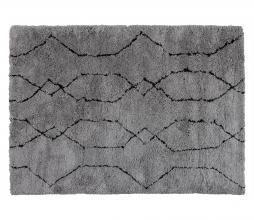 Afbeelding van product: WOOOD Nové vloerkleed div. afmetingen lichtgrijs/zwart 200x300 cm