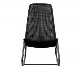 Afbeelding van product: WOOOD Tom schommelstoel (binnen-buiten) rattan zwart