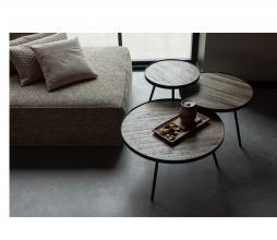 Afbeelding van product: WOOOD Lize bijzettafels set v. 3 hout/metaal bruin/zwart