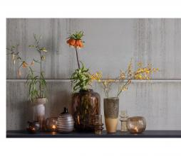 Afbeelding van product: BePureHome Unequal vaas ø14 cm glas bruin/wit