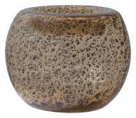 BePureHome Drib vaas 14xØ17cm glas transparant/bruin