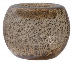 Afbeelding van product: BePureHome Drib vaas 14xØ17cm glas transparant/bruin