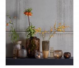 Afbeelding van product: BePureHome Drib vaas 12xØ15cm glas bruin