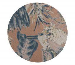 Afbeelding van product: BePureHome Bouquet rond vloerkleed printed Ø200 cm melon
