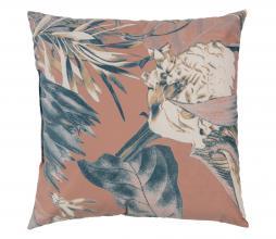 Afbeelding van product: BePureHome Bouquet kussen printed velvet 50x50cm melon