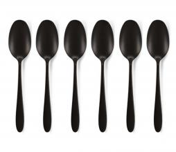 Afbeelding van product: vtwonen Set van 6 theelepels metaal mat zwart