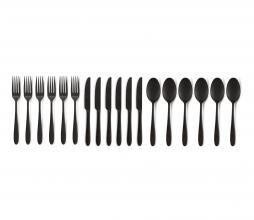 Afbeelding van product: vtwonen 18-delig bestekset metaal mat zwart
