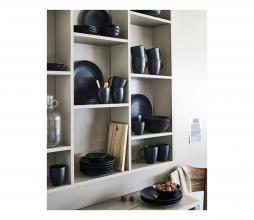 Afbeelding van product: vtwonen serviesset 16-delig porselein mat zwart
