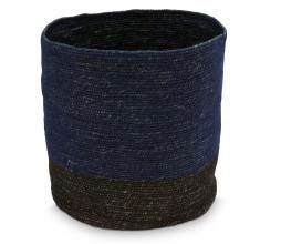 Afbeelding van product: vtwonen opbergmand 25x25 cm zeegras donkerbauw/zwart