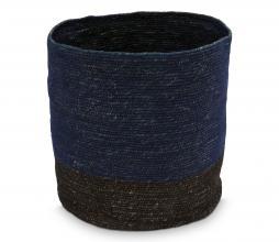 Afbeelding van product: vtwonen opbergmand 45x35 cm katoen donkerblauw/zwart