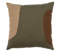 Afbeelding van product: Basiclabel Patch kussen 50x50 cm katoen groen