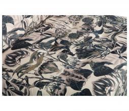 Afbeelding van product: BePureHome Caleidoscoop hocker printed velvet bouquet off-white