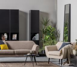 Afbeelding van product: WOOOD Doutzen spiegel metaal 225x60 cm zwart