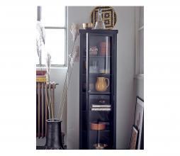 Afbeelding van product: Selected by Emilio vitrinekast 140x30x40cm zwart