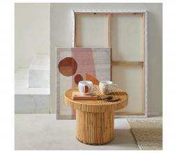 Afbeelding van product: Selected by Rattan salontafel Ø50 cm bamboe naturel